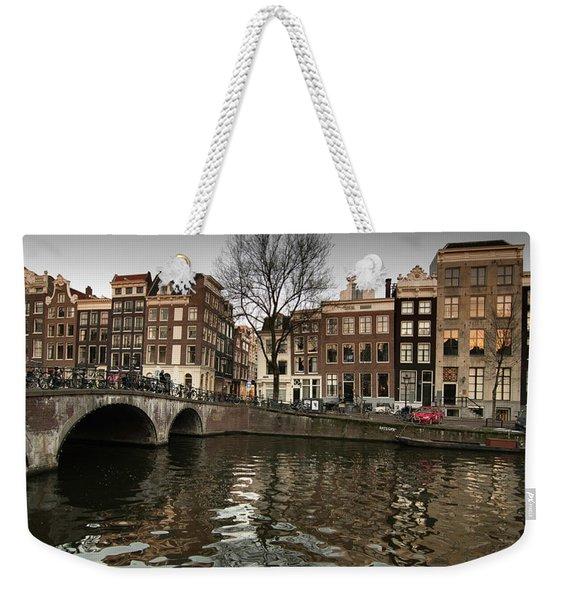 Amsterdam Canal Bridge Weekender Tote Bag
