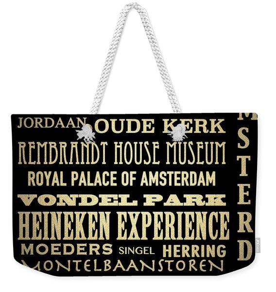Amsterdam Famous Landmarks Weekender Tote Bag