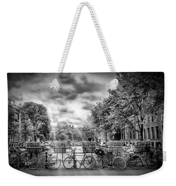 Amsterdam In Monochrome  Weekender Tote Bag