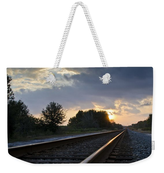 Weekender Tote Bag featuring the photograph Amtrak Railroad System by Carolyn Marshall