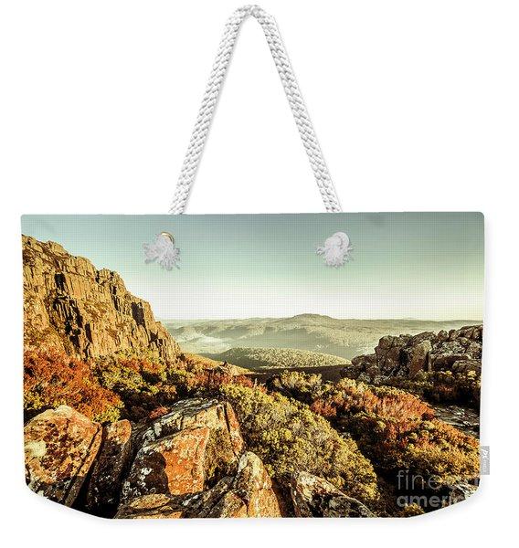 An Alpine Morning Weekender Tote Bag