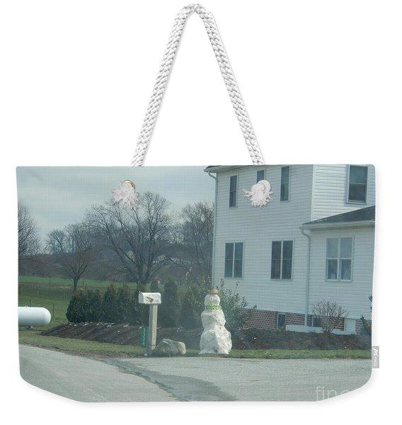 An Amish Snowman Weekender Tote Bag