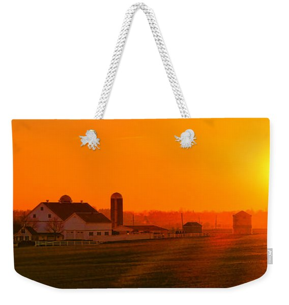 An Amish Sunset Weekender Tote Bag