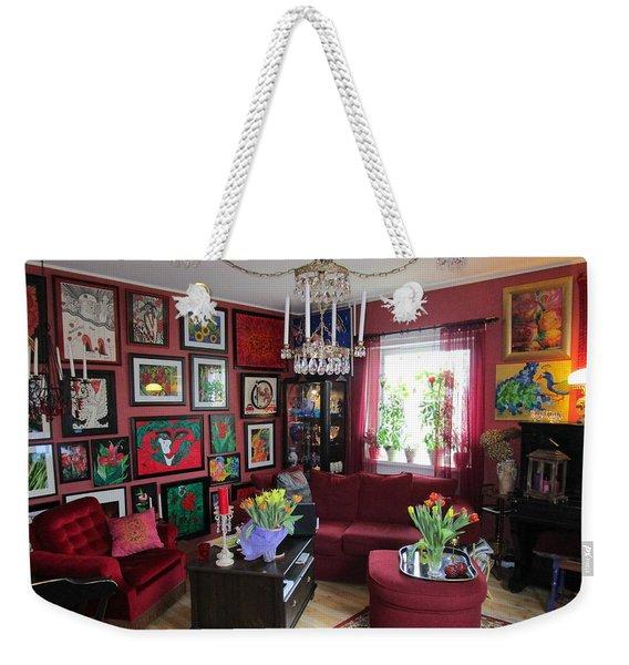 An Artists Livingroom Weekender Tote Bag