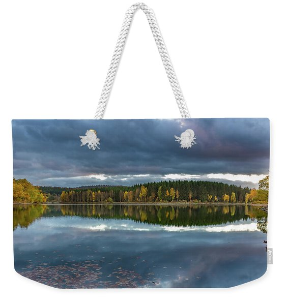 An Autumn Evening At The Lake Weekender Tote Bag