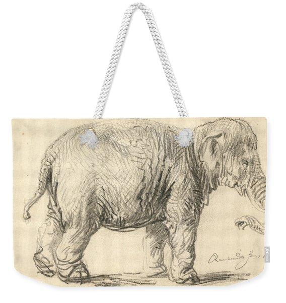 An Elephant Weekender Tote Bag