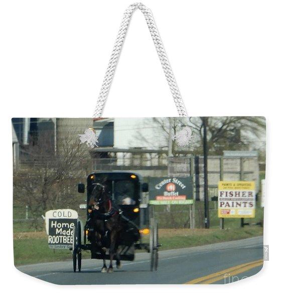 An Evening Ride Weekender Tote Bag