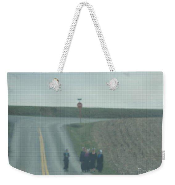 An Evening Stroll Weekender Tote Bag