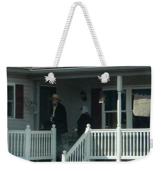 An Evening Visit Weekender Tote Bag