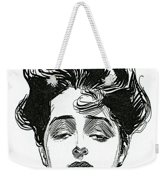 An Iconic Gibson Girl Portrait  Weekender Tote Bag