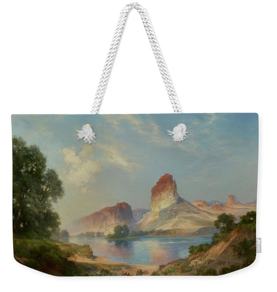 An Indian Paradise , Green River, Wyoming Weekender Tote Bag