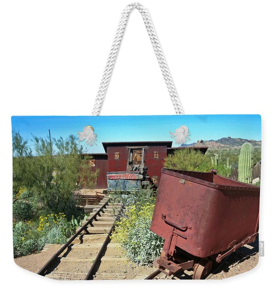 An Old Mine At Goldfield Ghost Town, Arizona  Weekender Tote Bag