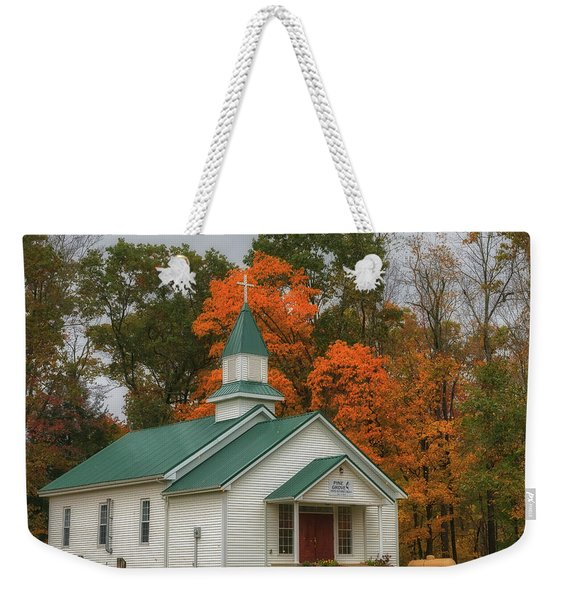 An Old Ohio Country Church In Fall Weekender Tote Bag