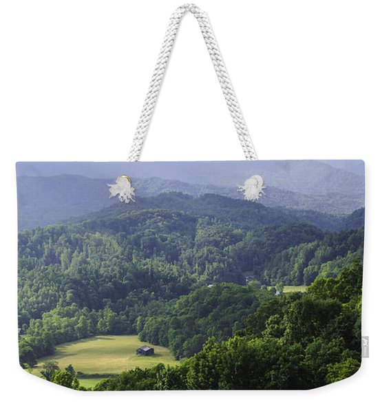 An Old Shack Hidden Away In The Blue Ridge Mountains Weekender Tote Bag