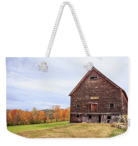 An Old Wooden Barn In Vermont. Weekender Tote Bag
