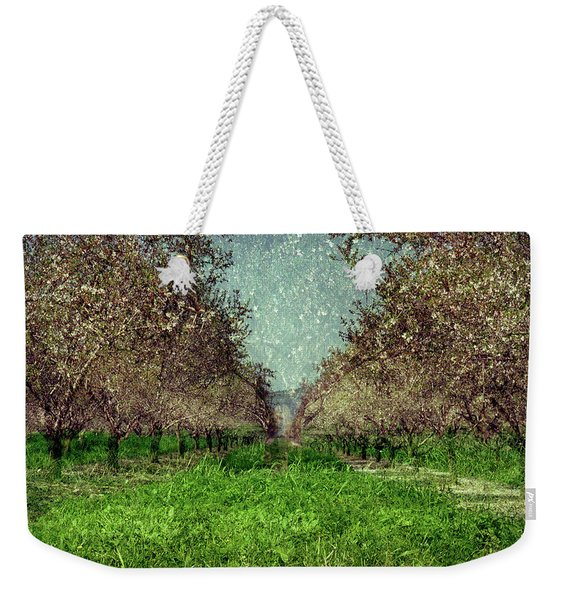 An Orchard In Blossom In The Eila Valley Weekender Tote Bag