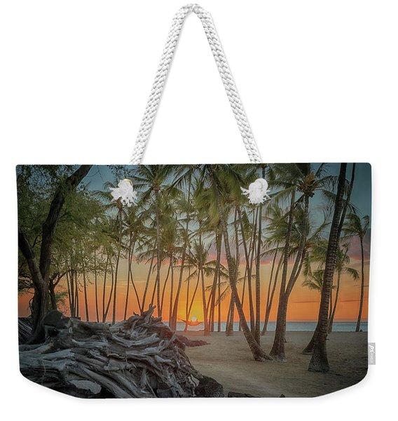 Anaehoomalu Beach Sunset Weekender Tote Bag