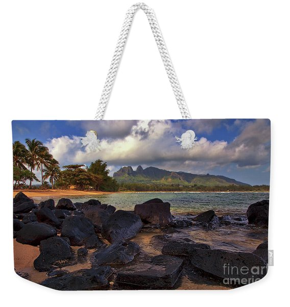 Weekender Tote Bag featuring the photograph Anahola Beach Park On The Island Of Kauai, Hawaii by Sam Antonio Photography