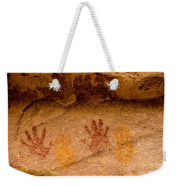 Anasazi Painted Handprints - Utah Weekender Tote Bag