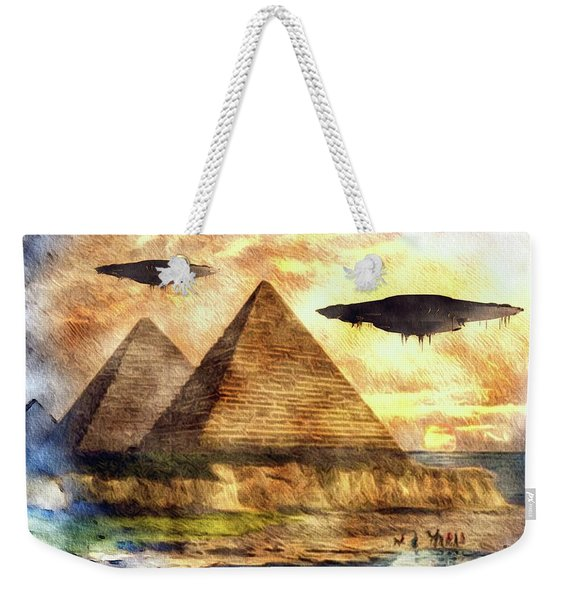 Ancient Aliens And Ancient Egypt Weekender Tote Bag