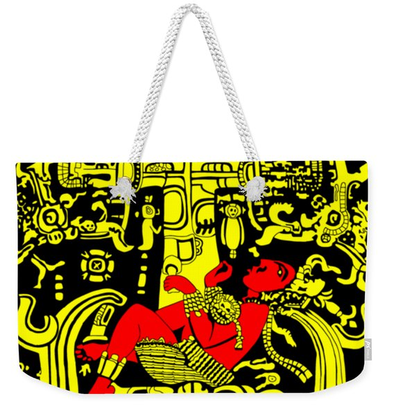 Ancient Astronaut Yellow And Red Version Weekender Tote Bag