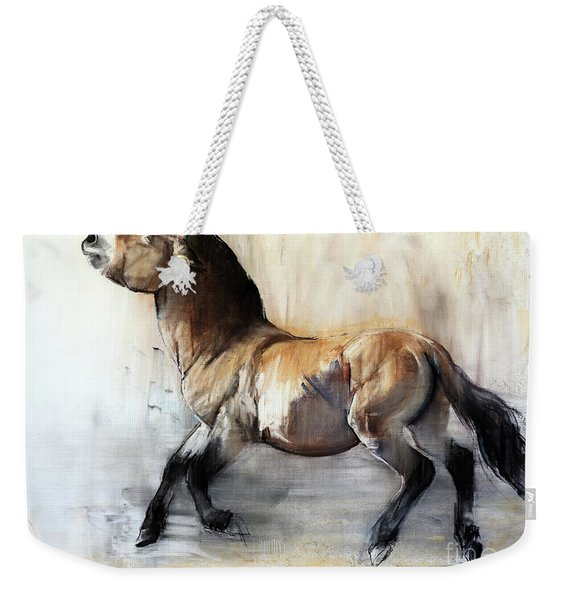Ancient Horse Przewalski In Winter Weekender Tote Bag