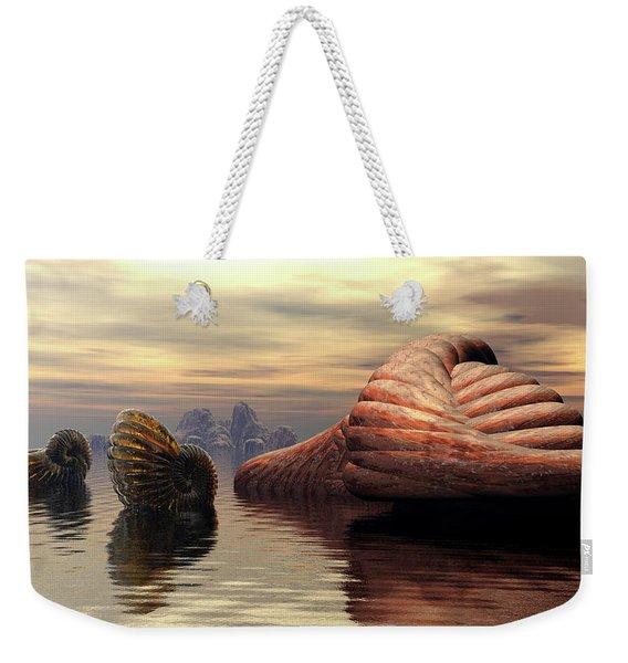 Ancient Nautilus Weekender Tote Bag