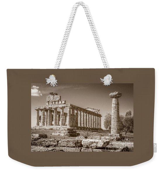 Ancient Paestum Architecture Weekender Tote Bag