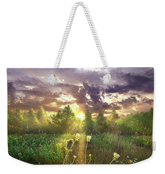 And In The Naked Light I Saw Weekender Tote Bag