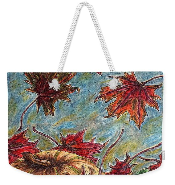 And The Leaves Came Tumbling Down Weekender Tote Bag