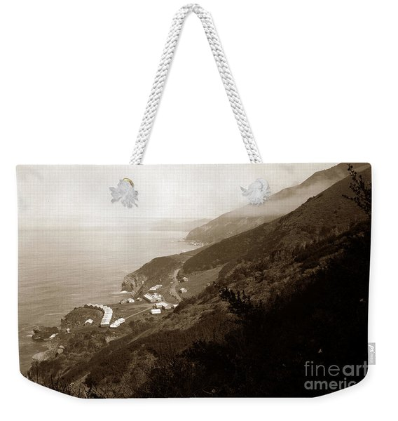 Anderson Creek Labor Camp Big Sur April 3 1931 Weekender Tote Bag