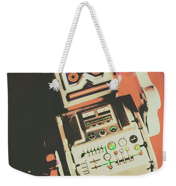 Android Short Circuit  Weekender Tote Bag