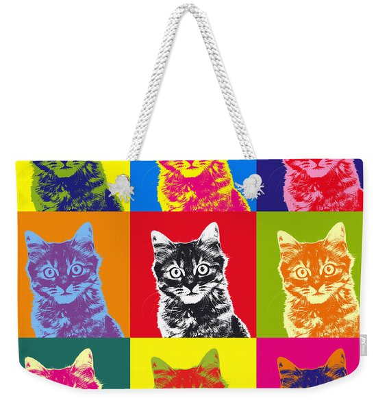 Andy Warhol Cat Weekender Tote Bag