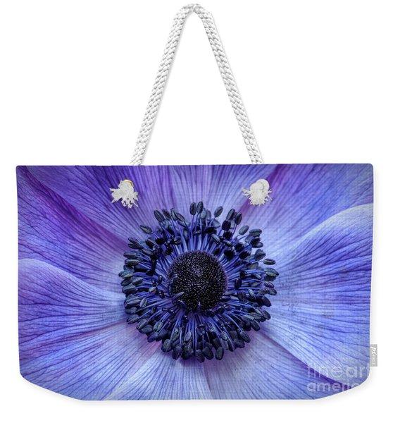 Anemone Blue Weekender Tote Bag