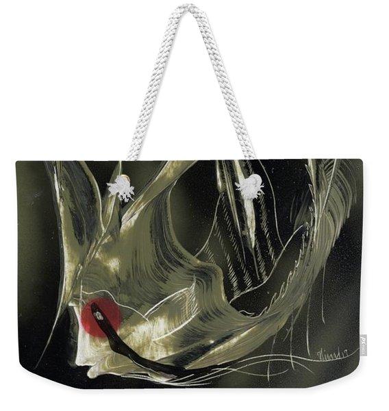 Angel Fish Abstract Weekender Tote Bag
