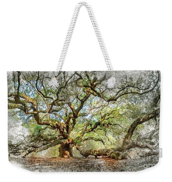 Angel Oak Mixed Media Weekender Tote Bag
