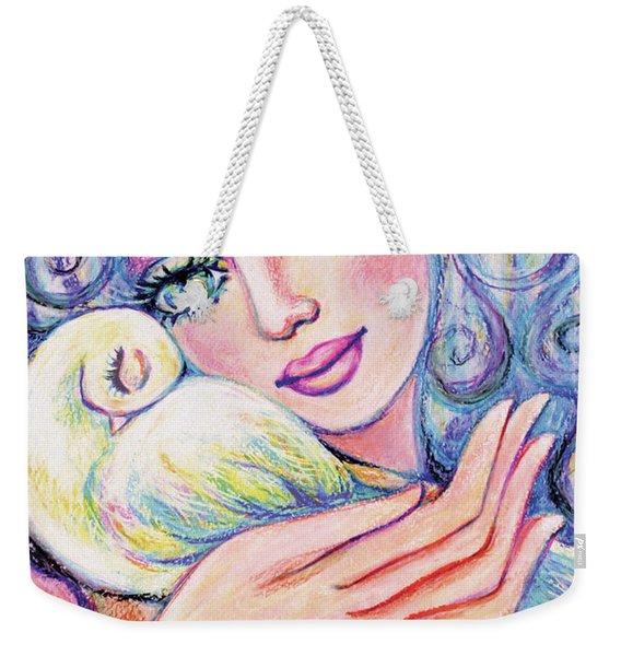Angel Of Tranquility Weekender Tote Bag