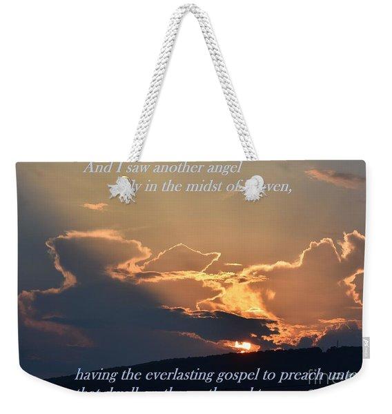 Angel Sky Weekender Tote Bag