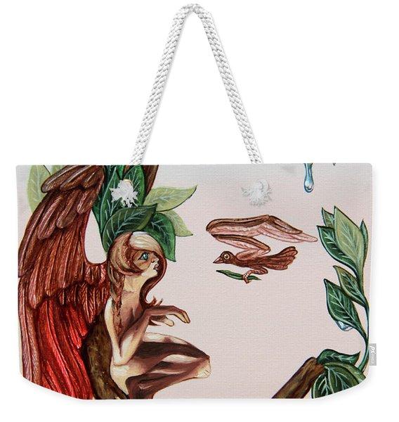 Angel, Watching The Reincarnation Of Marilyn Monro. Op.2769 Weekender Tote Bag