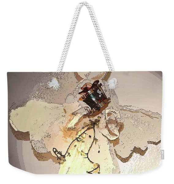 Angel With Drum Weekender Tote Bag