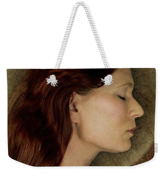 Angelic Portrait Weekender Tote Bag