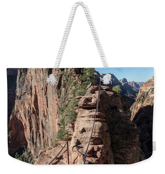Angels Landing Chains  Weekender Tote Bag