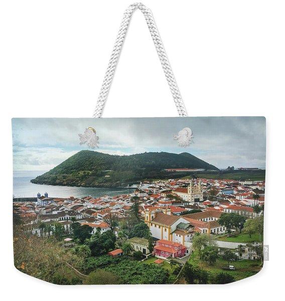 Angra Do Heroismo And Monte Brasil, Terceira Island Weekender Tote Bag