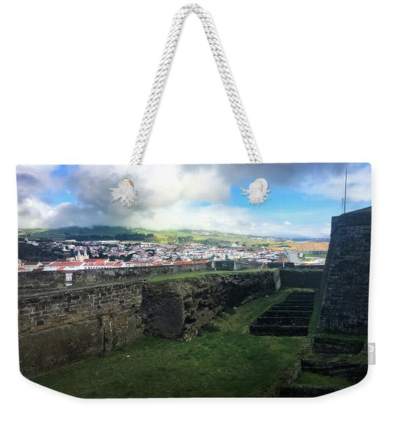 Angra Do Heroismo From The Fort Of Monte Brasil  Weekender Tote Bag