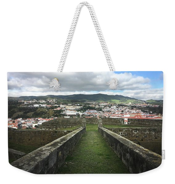 Angra Do Heroismo From The Fortress Of Sao Joao Baptista Weekender Tote Bag