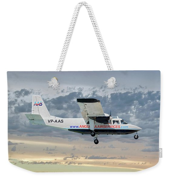 Anguilla Air Services Britten-norman Bn-2a-26 Islander 114 Weekender Tote Bag