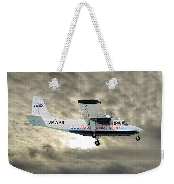 Anguilla Air Services Britten-norman Bn-2a-26 Islander 115 Weekender Tote Bag