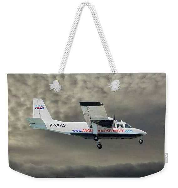 Anguilla Air Services Britten-norman Bn-2a-26 Islander 116 Weekender Tote Bag