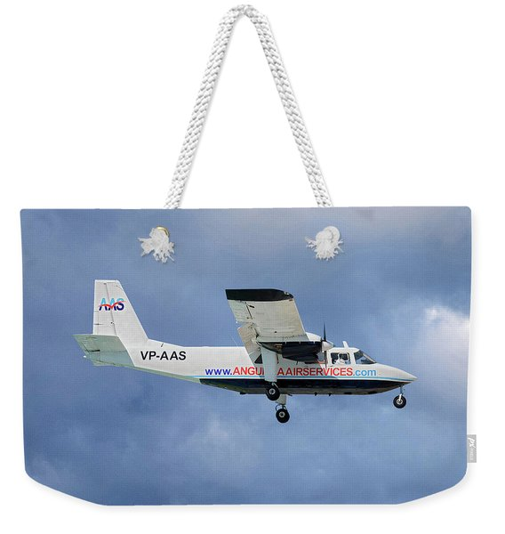 Anguilla Air Services Britten-norman Bn-2a-26 Islander 117 Weekender Tote Bag