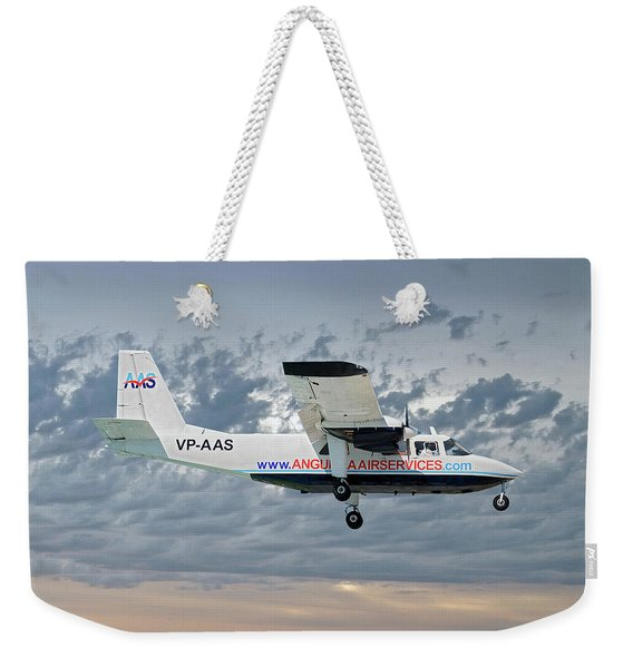 Anguilla Air Services Britten-norman Bn-2a-26 Islander 113 Weekender Tote Bag